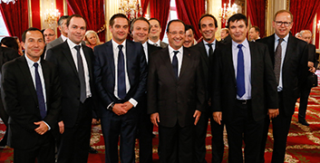 ID Logistics receives an award from French President François Hollande...